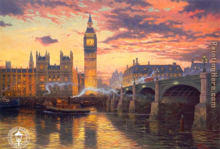London painting - Thomas Kinkade London art painting