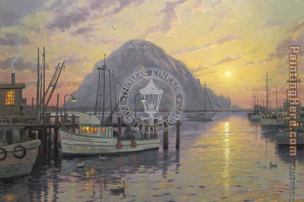 Morro Bay at Sunset
