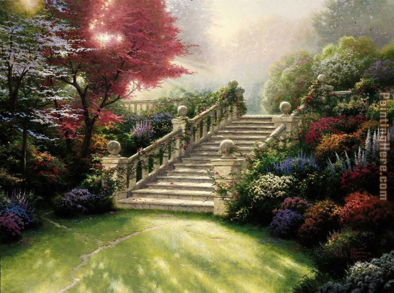 Thomas Kinkade Stairway to Paradise Art Painting