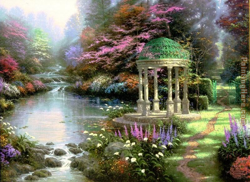 The Garden of Prayer painting - Thomas Kinkade The Garden of Prayer art painting