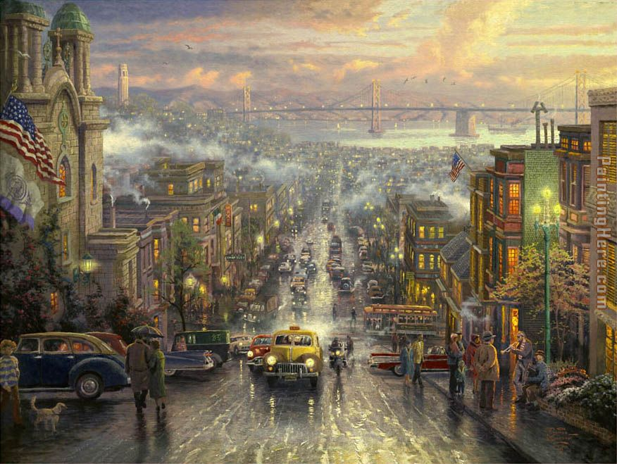 The Heart of San Francisco painting - Thomas Kinkade The Heart of San Francisco art painting