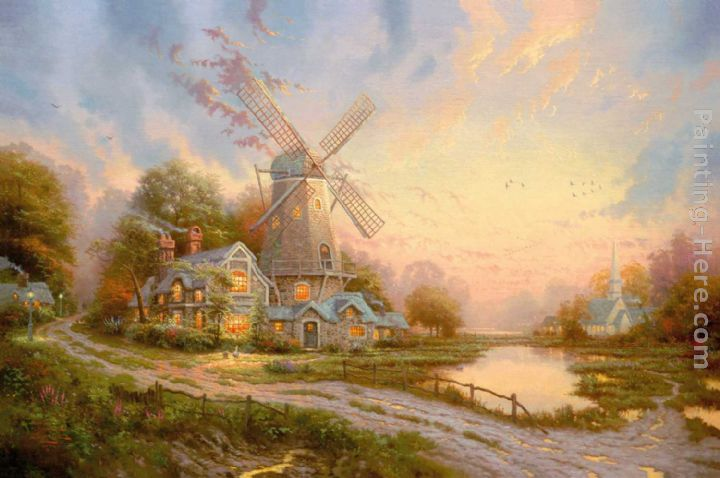The Wind Of The Spirit painting - Thomas Kinkade The Wind Of The Spirit art painting