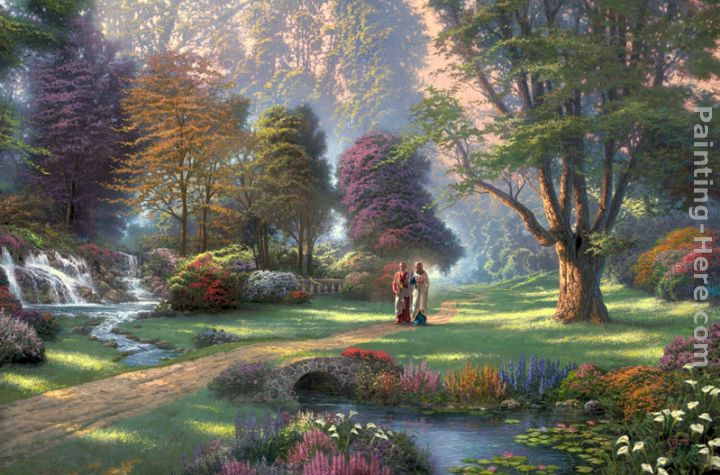 Thomas Kinkade Walk of Faith Art Painting