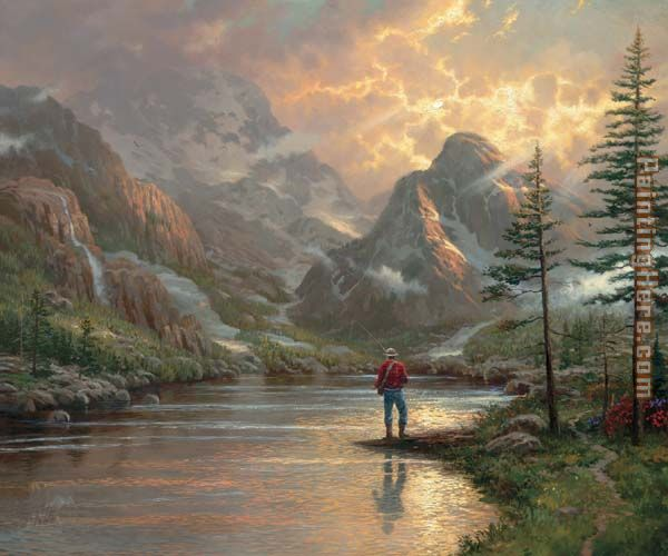 Thomas Kinkade almost heaven Art Painting