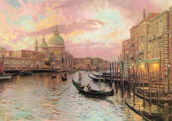 Thomas Kinkade venice Art Painting