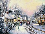 Christmas Village by Thomas Kinkade