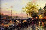 PARIS EIFFEL TOWER by Thomas Kinkade