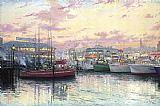 San Francisco Fisherman's Wharf by Thomas Kinkade