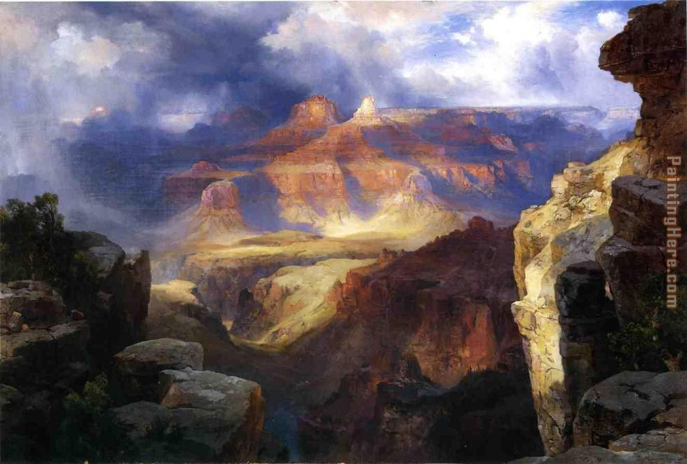 Thomas Moran A Miracle of Nature Art Painting