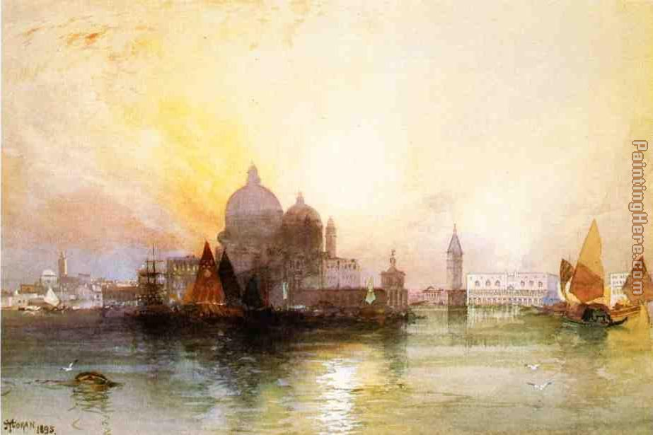 A View of Venice painting - Thomas Moran A View of Venice art painting