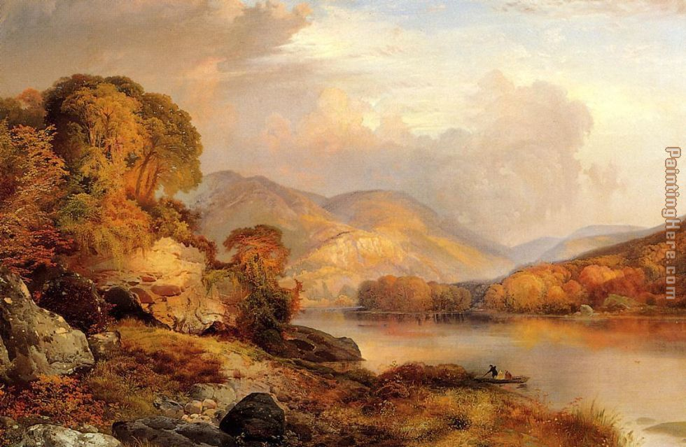 Autumn Landscape painting - Thomas Moran Autumn Landscape art painting