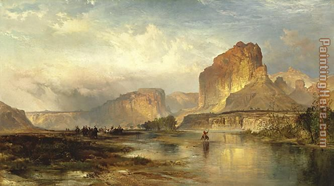 Thomas Moran Cliffs of Green River Art Painting