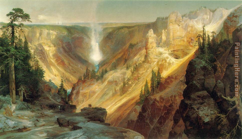 Grand Canyon of the Yellowstone painting - Thomas Moran Grand Canyon of the Yellowstone art painting