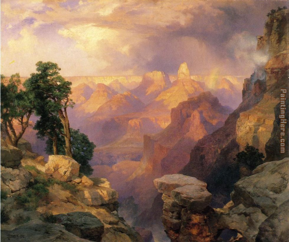Grand Canyon with Rainbows painting - Thomas Moran Grand Canyon with Rainbows art painting
