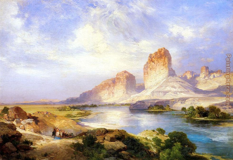 Thomas Moran Green River, Wyoming Art Painting