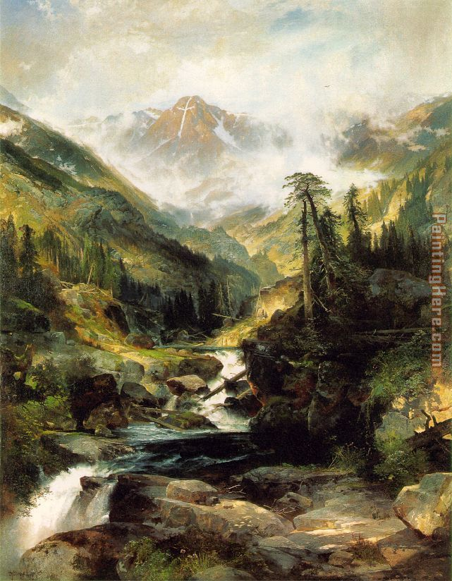 Mountain of the Holy Cross painting - Thomas Moran Mountain of the Holy Cross art painting