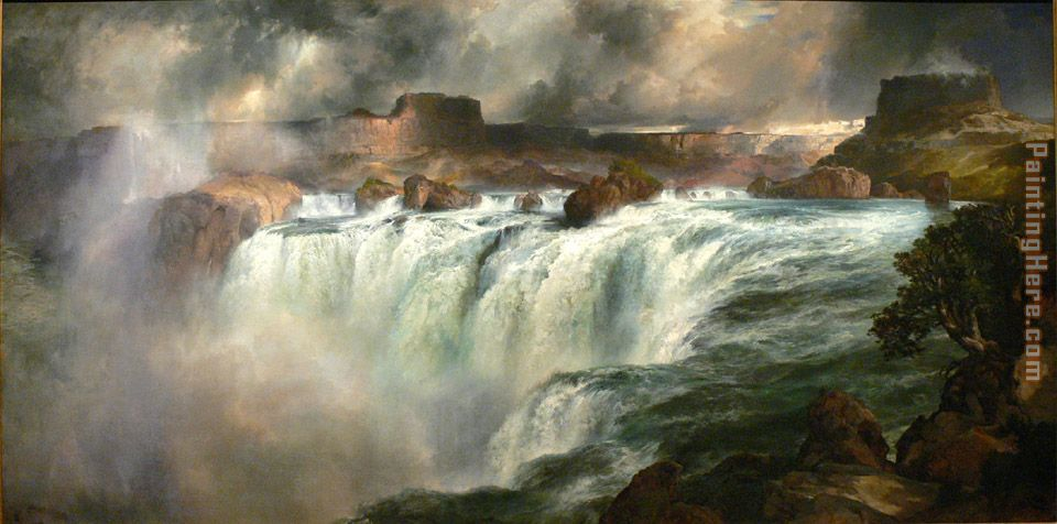 Shoshone Falls on the Snake River painting - Thomas Moran Shoshone Falls on the Snake River art painting