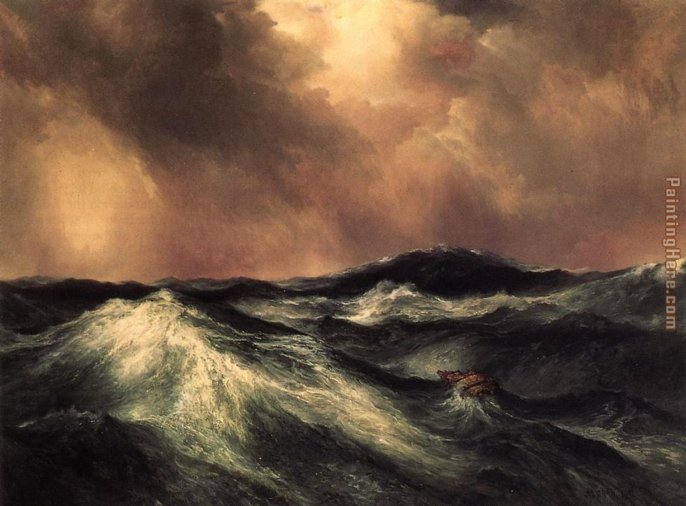 The Angry Sea painting - Thomas Moran The Angry Sea art painting