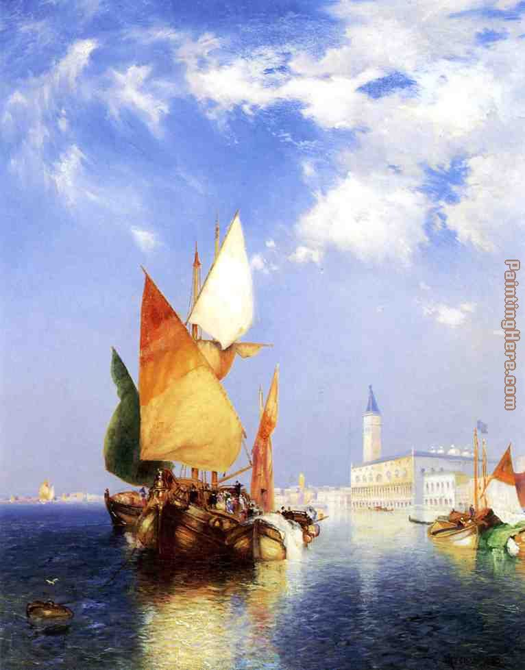 The Grand Canal,Venice painting - Thomas Moran The Grand Canal,Venice art painting