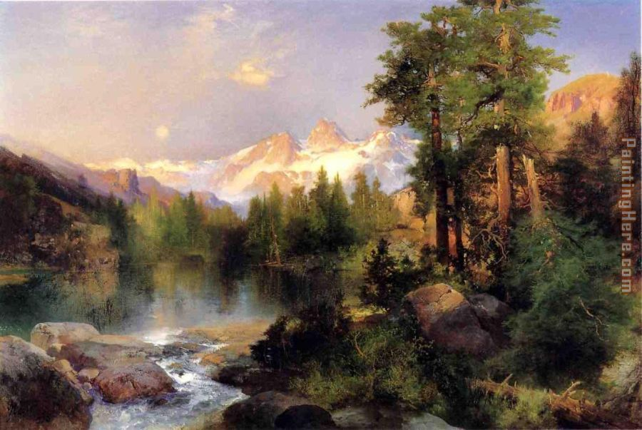 The Three Tetons painting - Thomas Moran The Three Tetons art painting