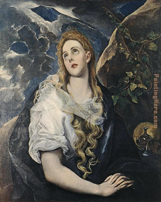 Saint Mary Magdalene By El Greco painting - Unknown Artist Saint Mary Magdalene By El Greco art painting