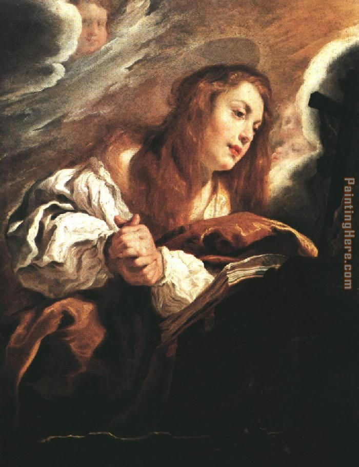 Saint Mary Magdalene Penitent By Domenico Feti painting - Unknown Artist Saint Mary Magdalene Penitent By Domenico Feti art painting