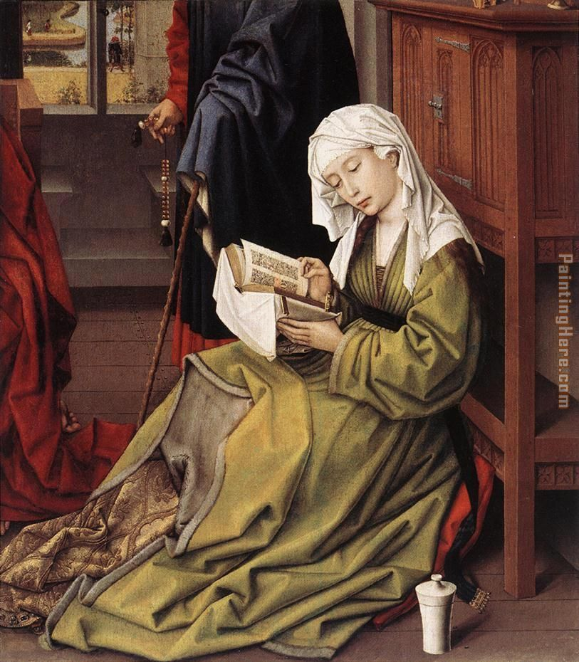 The Magdalen Reading By Weyden Rogierc painting - Unknown Artist The Magdalen Reading By Weyden Rogierc art painting