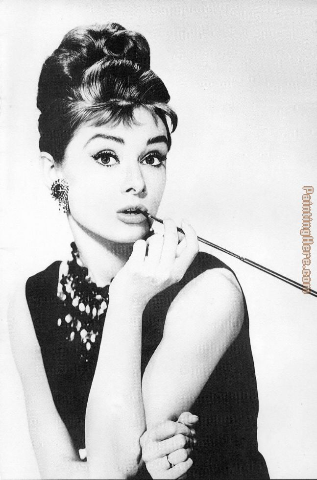 Unknown Artist Audrey Hepburn Art Painting