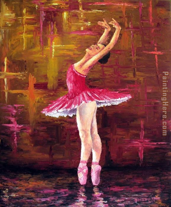 Ballerina painting - Unknown Artist Ballerina art painting
