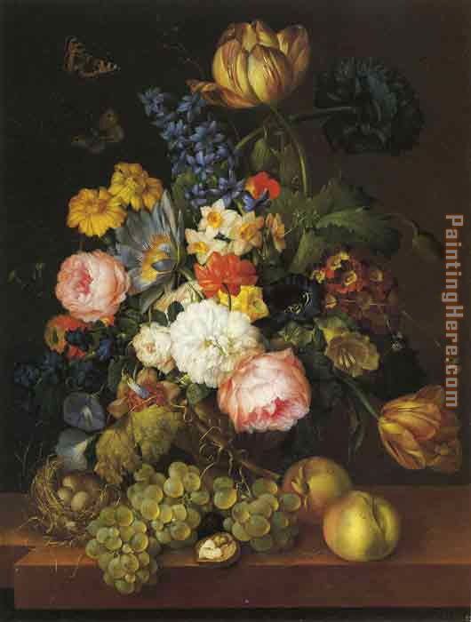 Unknown Artist Classic Flower Art Painting