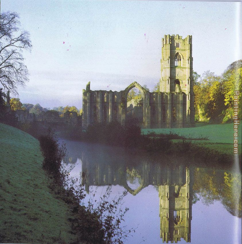 Unknown Artist Fountains Abbey Art Painting