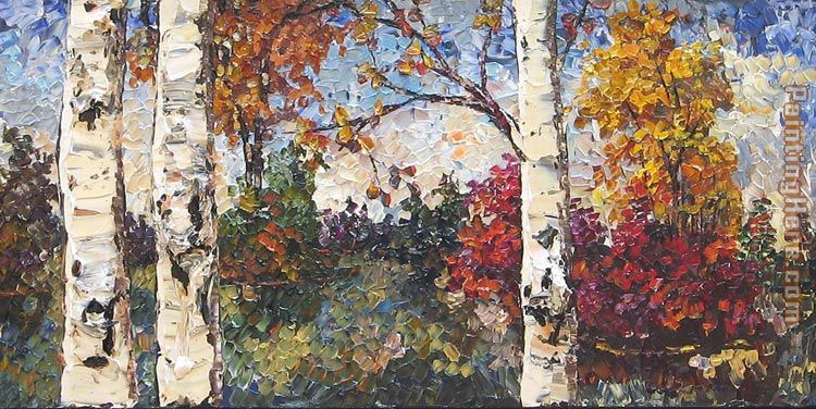Unknown Artist Maya Eventov Colours of Autumn Art Painting