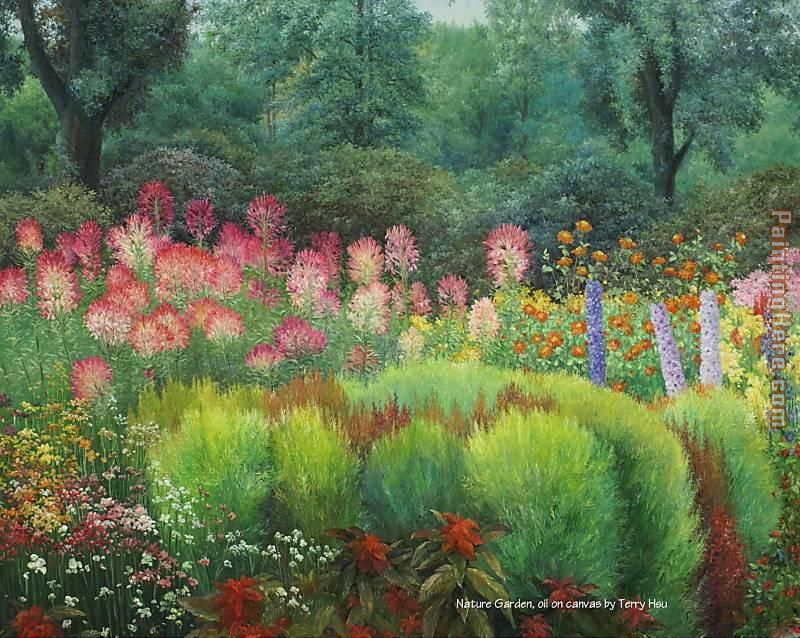 Nature Garden By Terry Xu Painting Unknown Artist Art