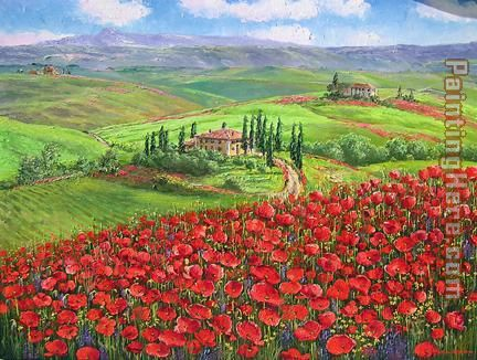 Unknown Artist TUSCANY POPPIES Art Painting