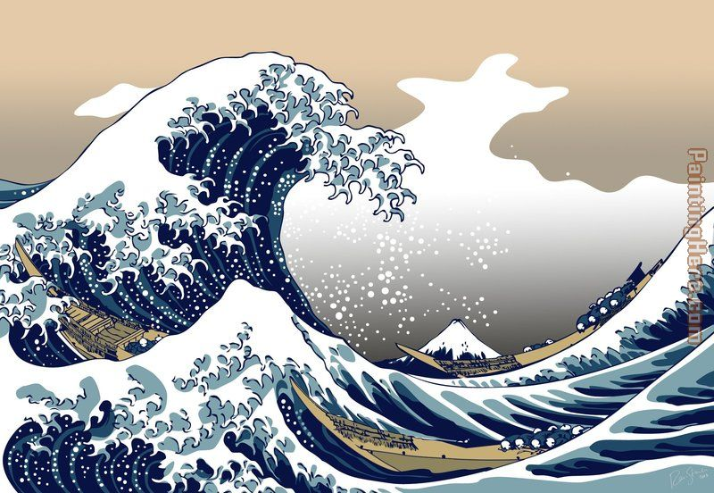 The Great Wave off Kanagawa by Katsushika Hokusai painting - Unknown Artist The Great Wave off Kanagawa by Katsushika Hokusai art painting