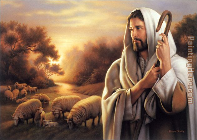 Unknown Artist The Lord is My Shepherd Art Painting