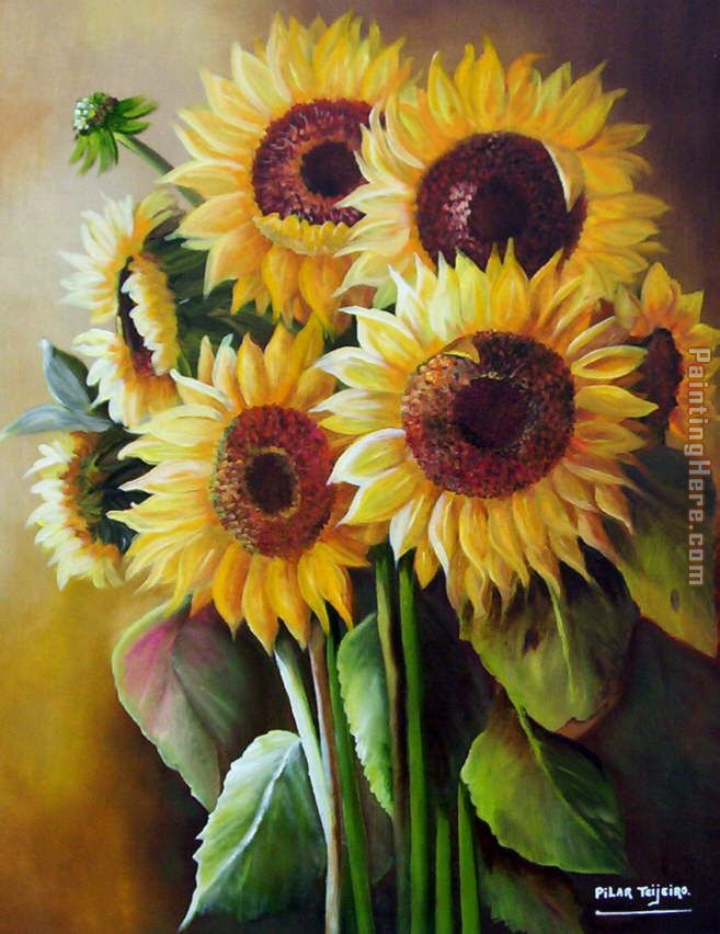 The SunFlowers painting - Unknown Artist The SunFlowers art painting