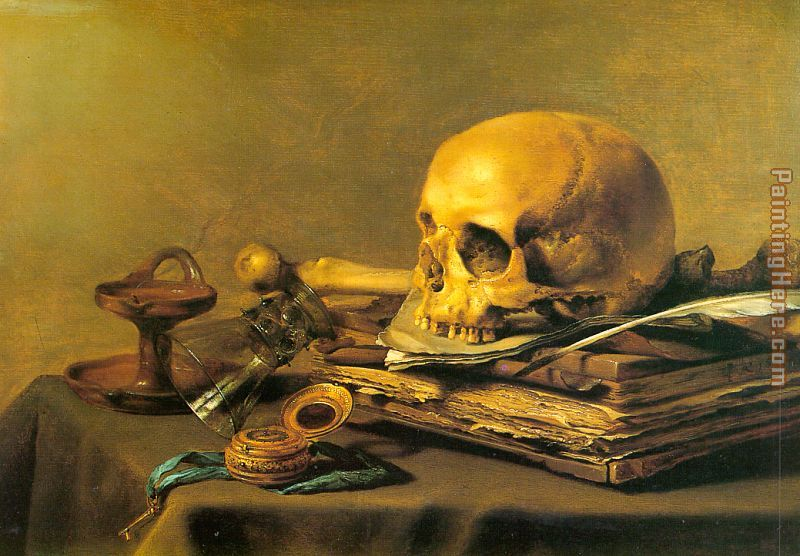 Unknown Artist Vanitas Still Life Art Painting