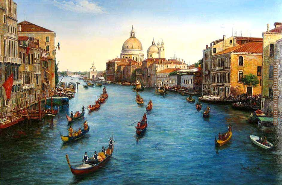 Venice Grand Canal painting - Unknown Artist Venice Grand Canal art painting