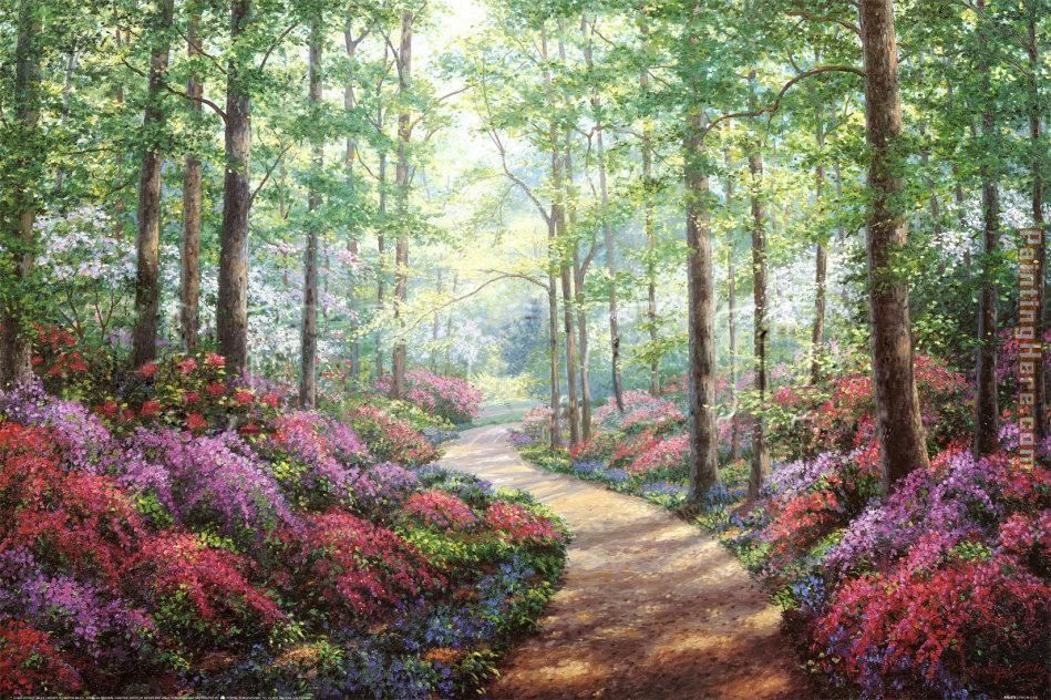 Woodland Walk painting - Unknown Artist Woodland Walk art painting