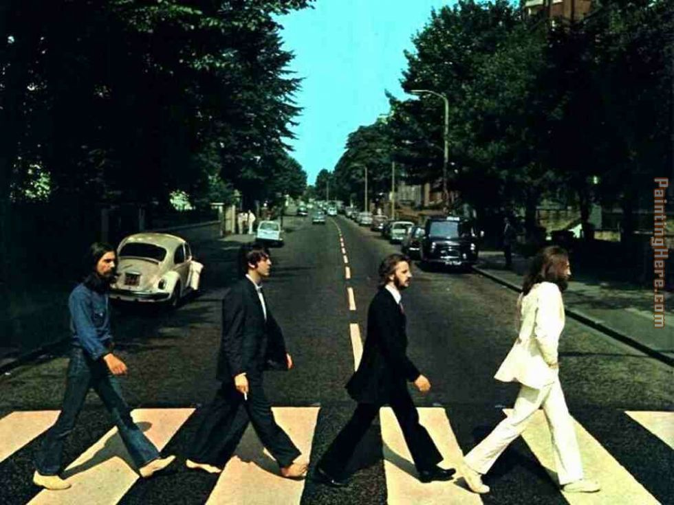 Unknown Artist the Beatles @ Abbey Road Art Painting