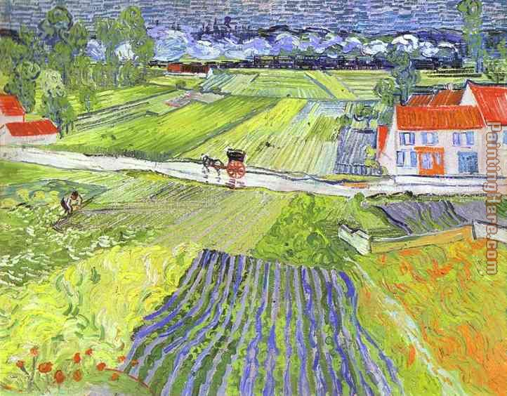 A Road in Auvers after the Rain painting - Vincent van Gogh A Road in Auvers after the Rain art painting