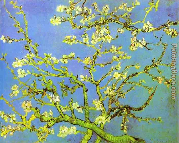 Branches of Almond tree in Bloom painting - Vincent van Gogh Branches of Almond tree in Bloom art painting
