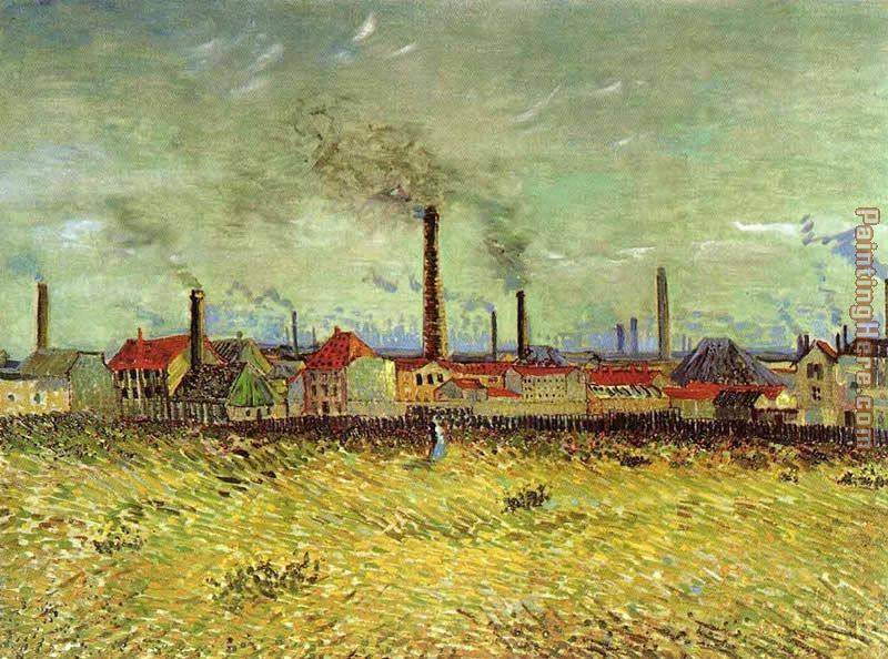 Factories at Asnieres Seen from the Quay de Clichy painting - Vincent van Gogh Factories at Asnieres Seen from the Quay de Clichy art painting