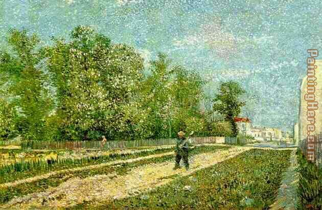 Faubourgs de Paris 1887 painting - Vincent van Gogh Faubourgs de Paris 1887 art painting
