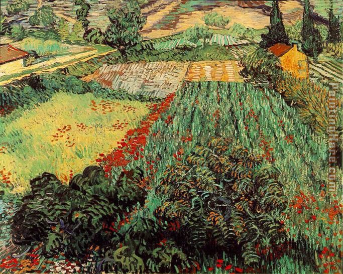 Field with Poppies painting - Vincent van Gogh Field with Poppies art painting
