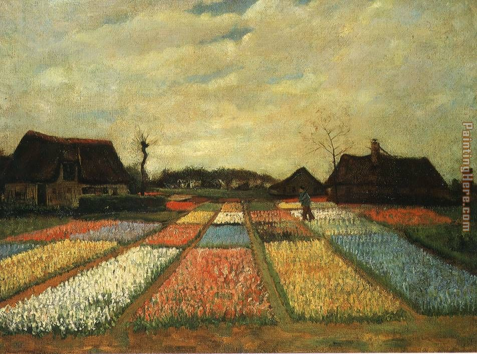 Vincent van Gogh Flower Beds in Holland Art Painting