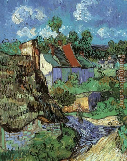 Houses at Auvers painting - Vincent van Gogh Houses at Auvers art painting