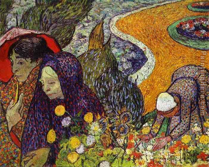 Ladies of Arles painting - Vincent van Gogh Ladies of Arles art painting