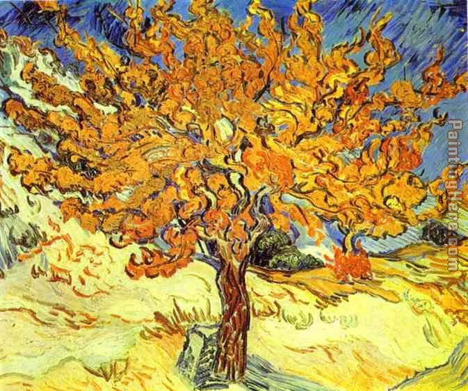 Tree painting we offer 100 % handmade reproduction of mulberry tree